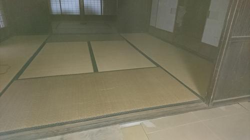 古民家部分和室床改修工事