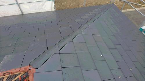 屋根瓦工事完了