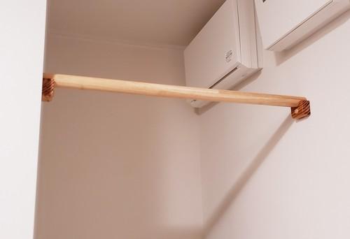 物干し棒と収納棚板