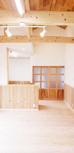 無垢材で造る平屋